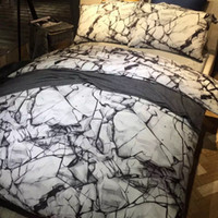 barcelona paintings - Stone rock painting d bedding set cotton free hand sketch black and white abstract painting bed linen barcelona kids kit