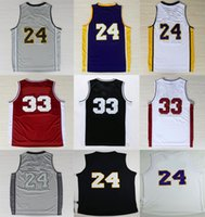 Wholesale Top quality accept Mixed Order Jersey Cheap short sleeved Jersey Bryant High school Basketball Jersey embroidered Logo