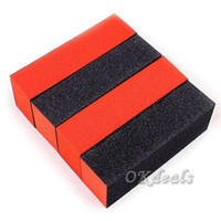 Wholesale 5PC NEW Black Red Buffer Buffing Sanding Files Block Pedicure Manicure Nail Art Care Makeup Tool