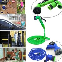 Wholesale 25 ft Expandable Flexible Garden Water Magic Hose Jet Spray Nozzel Head