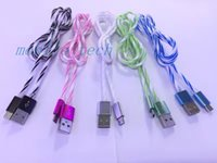 android spin - Spinning rainbow cable aluminium alloy sync data charger cord for Samsung Android HTC Blackberry Tablet micro usb V8