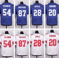 apple football - NY Giants jerseys JENKINS SHEPARD APPLE VERNON Elite Football Jerseys Free Drop Shipping Mix Order