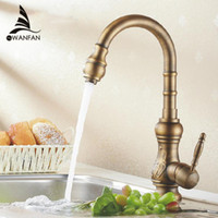Wholesale Antique bronze finish Kitchen faucets kitchen tap basin faucets single hand hot and cold wash basin tap HJ F