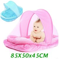Wholesale Lovely Pink Blue Newborn Baby Mosquito Bed Baby Travel Bed Portable Crib Netting Comfortable Child Baby Mosquito Nets Tent CP11