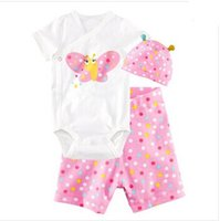 bebe hats - 2016 Hot Baby Clothing Rompers Newborn Baby Girl Summer Clothes Sets Sleeve Romper Hat Pants Baby Boy One Pieces Ropa Bebe clothes