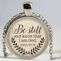 bible verse gifts - Bible Verse Necklace Be Still and Know That I am God Pendant Psalm Quote Jewelry Your Choice of Finish fashion Jewelry