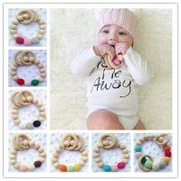 baby teething rings - 20pcs Crochet nursing toy Teething toy teething necklace baby teether crochet teether Wooden Teether baby Teething Ring
