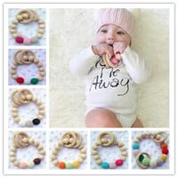 toddler toys - 20pcs Crochet nursing toy toddler Teething toy baby teething necklace crochet teether Wooden Teether baby Teething Ring