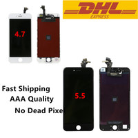 Wholesale Grade A LCD Display Touch Digitizer Complete Screen With Frame Full Assembly Replacement For Iphone Iphone Plus