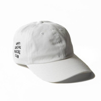 Wholesale 2016 New Brand Anti Social Social Club Panel Unstructured Hat Pink Travis Travis Scott Cap I THINK ABOUT YOU SOMETIMES Cap