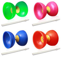 Wholesale 4 color Soft Rubber Diabolo Chinese Yo Yos Juggling Spinning Classic Toy For Kid