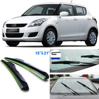 Wholesale 2pcs quot quot front windscreen windshield wiper blades Soft Rubber WindShield Wiper Blade For Suzuki Swift