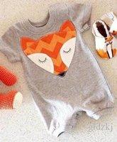 brand clothes kids - 2016 Newborn Kids Baby Infant Boy Girl Fox Bodysuit Romper Jumpsuit Outfits Clothes