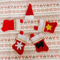 bag decoration manufacturers - Manufacturers promotional items creative home supplies Christmas Desktop Decoration small socks knife and fork bags Christmas tableware sets