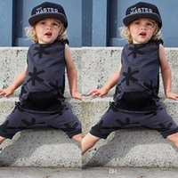 Wholesale Cute Toddler Kids Baby Girl Boy Clothes Cotton Bodysuit Romper Jumpsuit Outfits