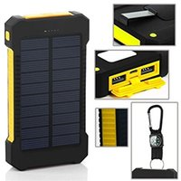 Wholesale 8000mAh Solar Charger and Battery Solar Panel portable power bank