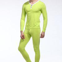 animal print spandex pants - Brand Sleepwear WJ Man Thermal Underwear Cueca Long Johns Men Warm Underwear Set Tops amp Pants Men Tights Fashion Leggings