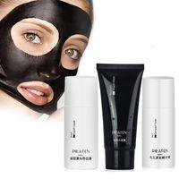acne free toner - 3pcs set PILATEN Peel Off Facial Suction Black Masks Blackhead Remover Set Acne Treatment Set Liquid Black Mask Skin Compact Toner free