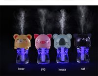 Wholesale USB Portable Humidifier Essential Aroma Diffuser MIst Maker Water Bottle Cap Ultrasonic Humidifier Air Purifier DC5V ABS