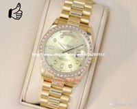 Wholesale Luxury New Automatic D y date K Yellow Gold Diamond Dial Diamond Bezel mens Watch Men s Watches Top quality WOW