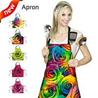 best choice coffee - One size thick custom made gradient color printing anti pollution apron x67cm kitchen coffee bar club Party best choice Apron MOQ set