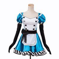 alice blue dress - Sexy Alice in Wonderland Blue Deluxe Cosplay Halloween Costume Fancy lolita Dress S M L XL XXL