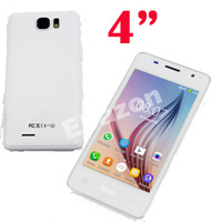 Cheap Cheap 4 Inch Touch Screen Android 4.4 Smart Phone Dual Sim Wifi 256M RAM Capacitive Multi Touch Spreadtrum SC6820 1GHz H-Mobile V1