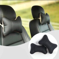 Wholesale Car Seat Headrest Pillow PU Leather Hole digging Auto Supplies Neck Safety Pillow Head Cushion Car Care Automobile Accessories
