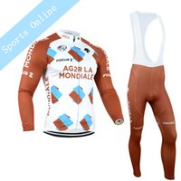 Wholesale 2016 NEW team AG2R KTM winter Cycling clothing long sleeve cycling jersey sets ropa ciclismo hombre MTB bike jersey maillot ciclismo
