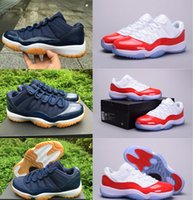 air massage boots - With Box Top quality air retro man Basketball Shoes low Navy Gum Blue White Varsity Red Men s Sneakers sports shoes Athletics Boots