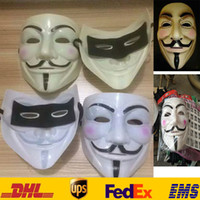 Wholesale V for Vendetta Mask Guy Fawkes Anonymous Halloween Masks Cartoon Movie Fancy Dress Costume Cosplay Masquerade Party Mask Gifts HH M04