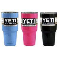 Wholesale Powder Coated oz Yeti Rambler YETI Coolers Rambler Tumbler Black blue pink Travel Mug YETI Cup