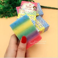 Wholesale Brand New Rainbow Soap OMO White Plus Soaps Gluta Mix Color Plus Five Bleached White Skin Gluta Rainbow Soap Free shiping hot sale