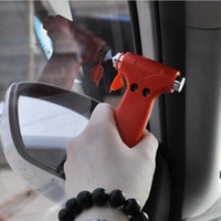 Wholesale Car Safety Hammer Life Saving Escape Emergency Hammer Seat Belt Cutter Window Glass Breaker Car Rescue Tool