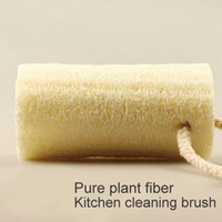 Wholesale Pure natural plant fiber loofah household kitchen cleaning oil bath cleaning environmental protection washing cloth manufacturers