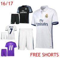army uniforms - 2016 Soccer Jerseys Real Madrid Cristiano Ronaldo Uniform Kits Marcelo Camisetas de futbol Modric Kroos Sergio Ramos Bale Asensio Shirt