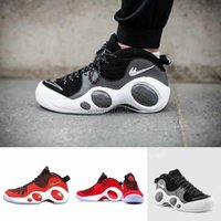 Wholesale Newest Zoom Flight SE Mens Basketball Shoes Black Red Sports Booots High Quality Outdoor Athletic Sneakers With Original Box