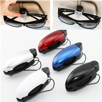 auto glass reading - Portable Car Auto Sun Visor Clip Holder For Reading Glasses Sunglasses Eyeglass