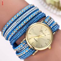 battery press - Dress Women PU Bracelet Wristwatches Luxury Simple Designer Diamond Band Ladies Quartz Watches Analog Bilateral Press Clasps Hot Watch