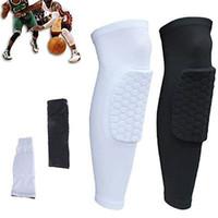 Wholesale Strong Honeycomb Pad Crashproof Basketball Protective Gear Long Leg Knee Sleeve