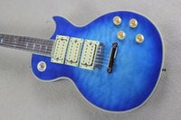 ace pickup - Hot ocean blue qulit maple top mahogany body pickup Ace Frehley Signature electric guitar