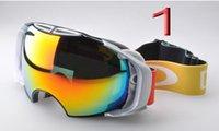 airbrake goggles - New AIRBRAKE brand professional ski goggles double UV400 anti fog big ski mask glasses skiing snowboarding men women snow goggles