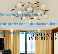 aluminium pendant light shade - Modern K9 Crystal Leaves Aluminium Glass Balls Shade LED Ceiling Light Pendant Lamp LED Chandelier Living Room Lights Bedroom lights