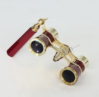 opera binoculars - 2016 LED lights with handles boutique metal opera glasses binoculars telescope optical glass lens telescope