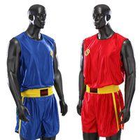 Wholesale Embroidery Women Men s Boxing Shorts Trunks Tank Tops T Shirts Clothes Set Taekwondo Sanda Muay Thai MMA