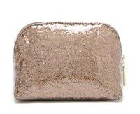 Wholesale waterproof women sparkle cosmetic bag blink gold paillette makeup bag handbag storage bag toiletry organizer