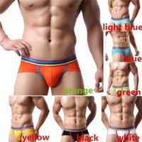 Wholesale New Arrivals Men s Briefs Panties Underpants Underwear Stitching Breathable Soft Rayon Size L XL Fashion EC39