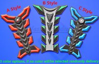 Wholesale For Honda Yamaha Monster Red Green Blue Optional D Fiber Rubber Sticker Motorcycle Fuel GAS Tank Pad Protector Decale QJC2533