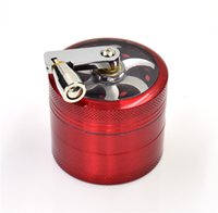 Wholesale Crank Herb Tobacco Grinder Matel Smoking Crusher Grinding Machine Parts mm Zinc Alloy Herbal Grinders