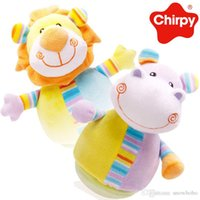 baby tumbler - 2016 New Arriving Cute Plush Toys Lion Hippo Tumbler Best Gifts For Baby